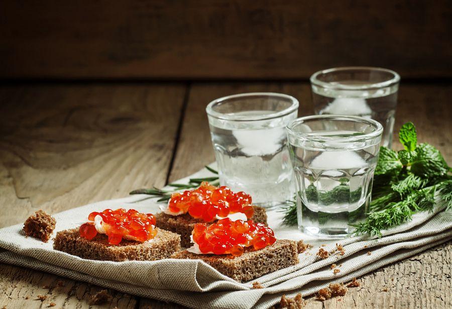 Typické ruské jídlo a pití