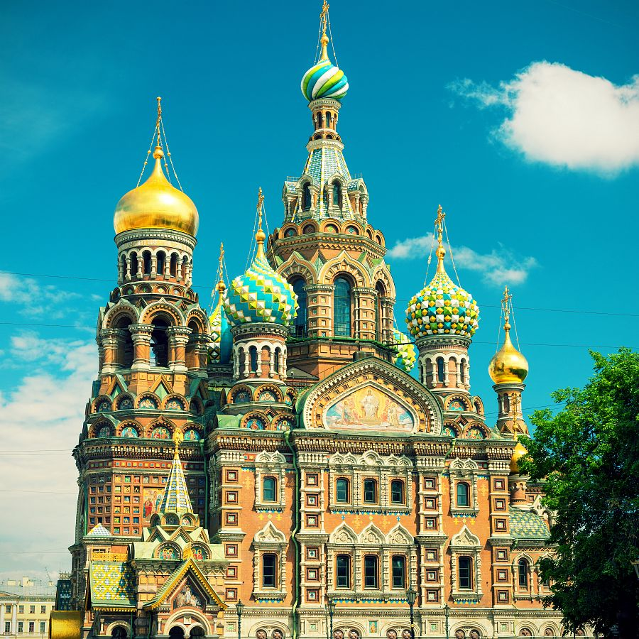 Petrohrad - chrám Ježíše Krista