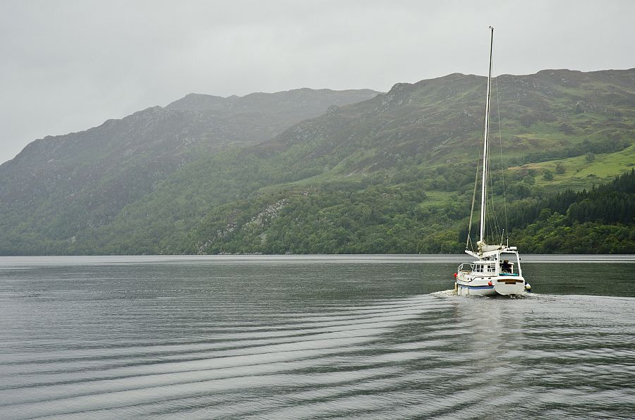 Sailing on Loch Ness, Scotland