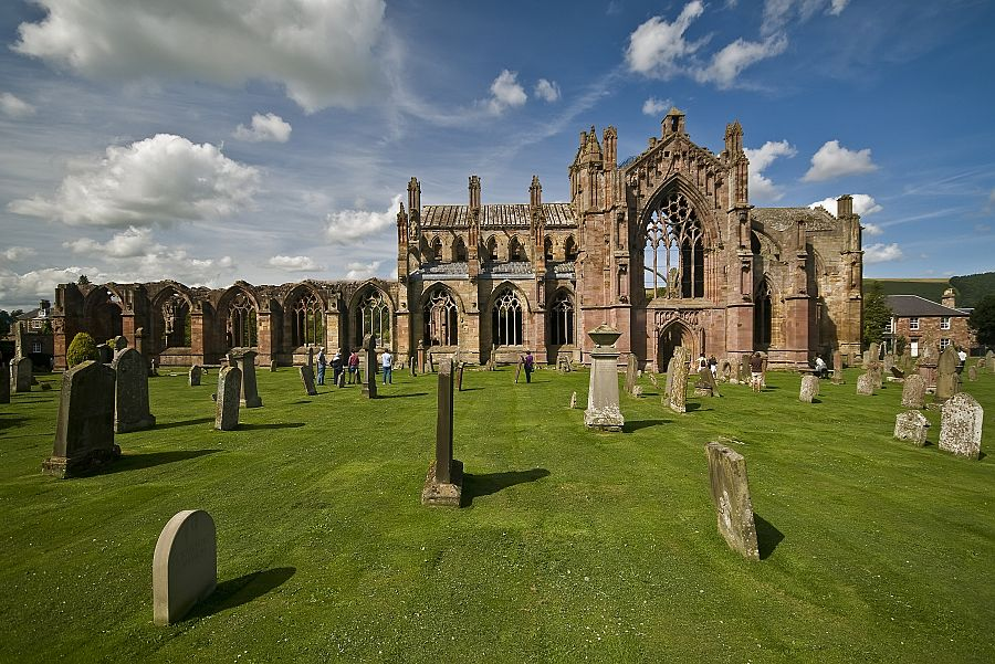 Skotsko - Melrose Abbey