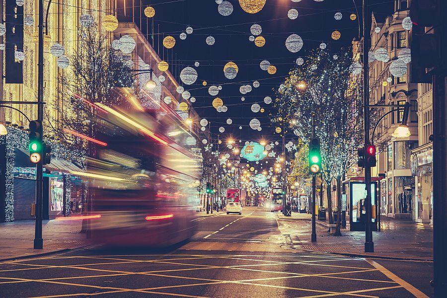 Vánoční ulice Londyn