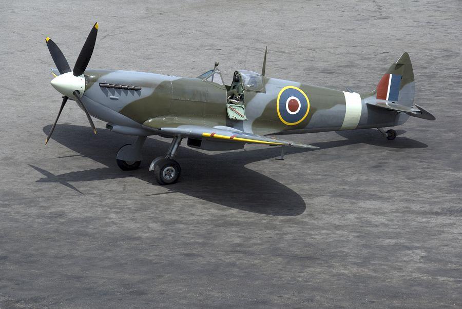 A british Spitfire fighter plane