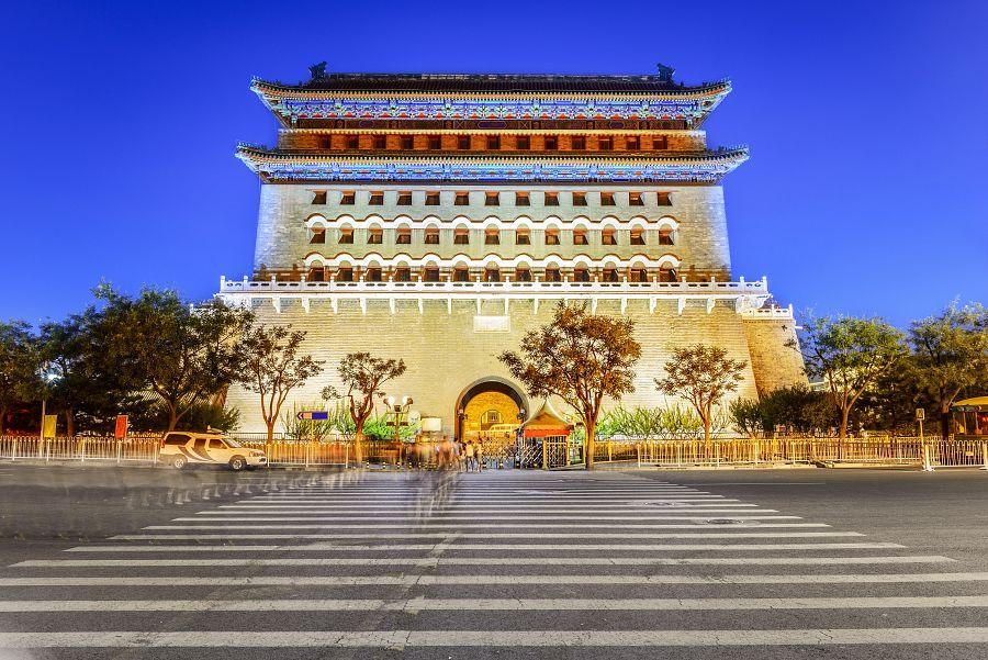 Peking - brána Qianmen