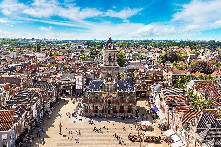 Delft - radnice - náměstí