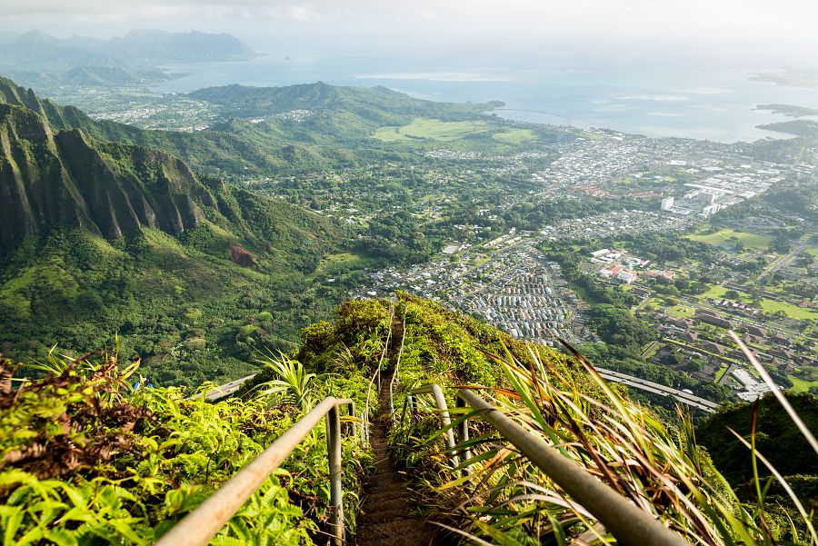 View from Stairway, Oahu island, Hawaii