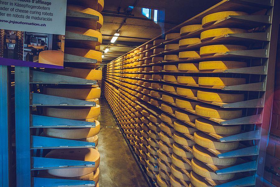 Švýcarsko Gruyeres sýrárna