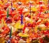 Výborné ovocné saláty - tržnice Boquería